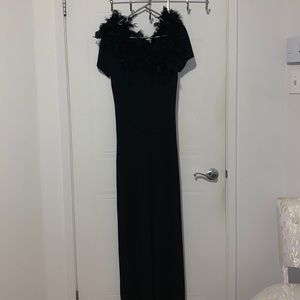 Paolina Long  Dress as Halloween costume with  feaders 🎚 large size